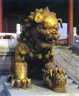 Fu Dog Female at Beijing's Forbidden City
