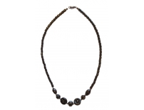 Hematite Crystal Necklace Circle
