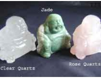 Crystal hand carved Buddha's - Rose