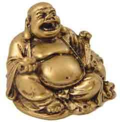 Buddha holding wealth ingot & Ru Yi