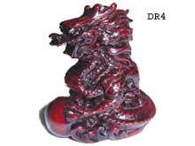 Red shou shan stone Dragon
