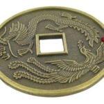 Dragon Phoenix coins amulet (Lung Bei Qian)