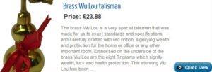 Brass Wu Lou Talisman