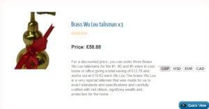 Brass Wu Lou X3