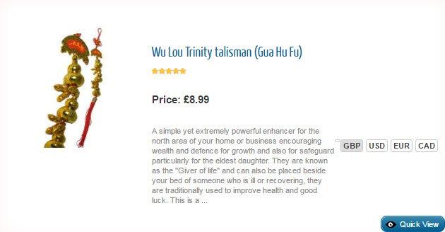 Gua Hu Fu Wu Lou Trinity Talisman