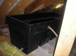 Water tank in loft