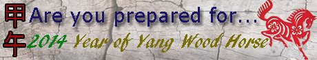 Are you prepared for 2014 year of Yang Wood Horse