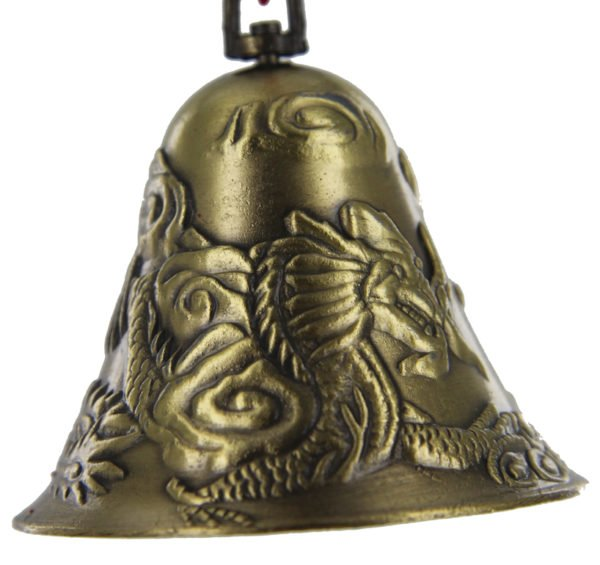 Lung Huang bell (Dragon & Phoenix amulet) Wealth enhancer cure
