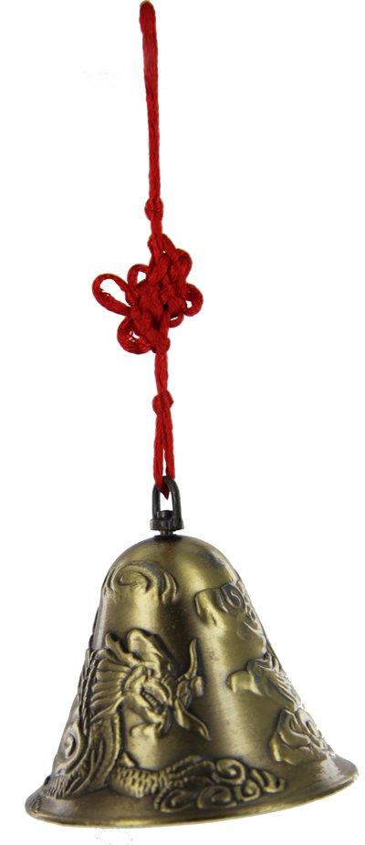 Lung Huang bell (Dragon & Phoenix amulet) Wealth enhancer cure