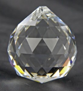 Faceted crystal 40mm sphere yuán qiú