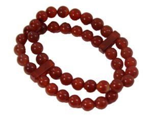 Carnelian double Power Bead