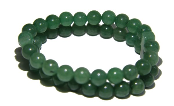 Aventurine Crystal double Power Bead Bracelet