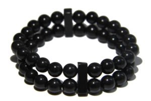 Onyx Crystal double Power Bead Bracelet