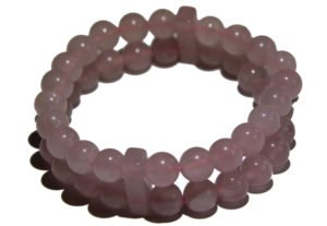 Rose Quartz double Power Bead Bracelet