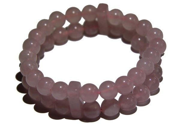 Rose Quartz double Power Bead Bracelet