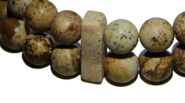 Picture Jasper Crystal double Power Bead Bracelet