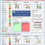 Tong Shu Almanac for Saturday 11th - Monday 13th October 2014