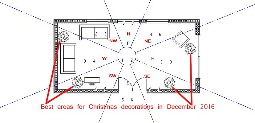 Best areas for Christmas decorations in December 2016