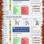Tong Shu Almanac for Wednesday 24th - Monday 29th December 2014 copy