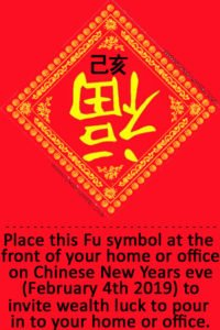 Upside down Fu symbol for 2019
