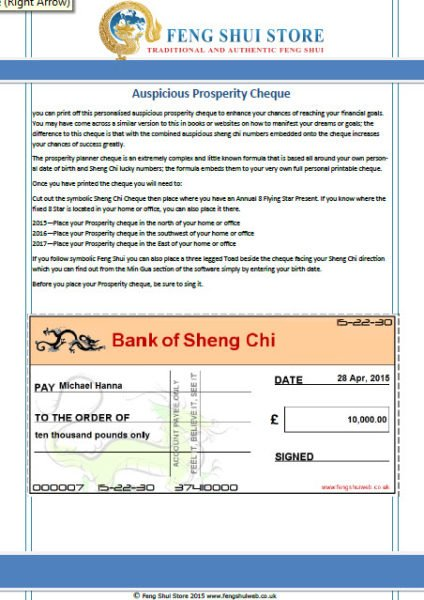 On-line Personalised Feng Shui Report