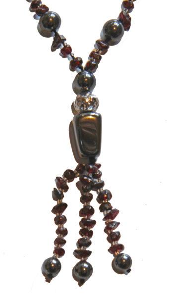 Hematite and Garnet Crystal Necklace