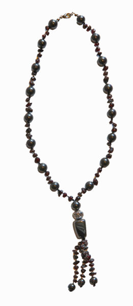 Hematite and Garnet Crystal Necklace