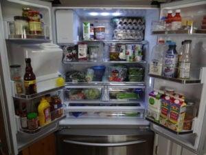 Feng Shui organised fridge