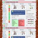 Tong Shu Almanac for Friday 23rd - Tuesday 27th December 2016