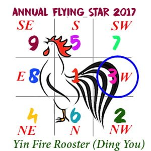 2017 Flying Star Chart #3 Star