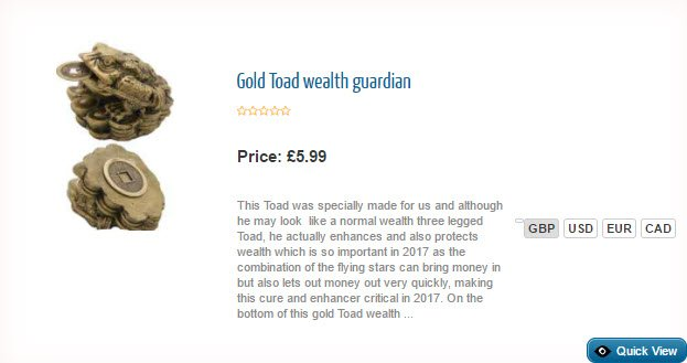 Gold Toad wealth guardian
