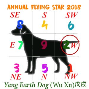 Dog Flying Stars chart - 2018 #2
