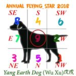 Dog Flying Stars chart - 2018 #9