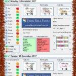 Tong Shu Almanac for Saturday 23rd - Wednesday 27th December 2017