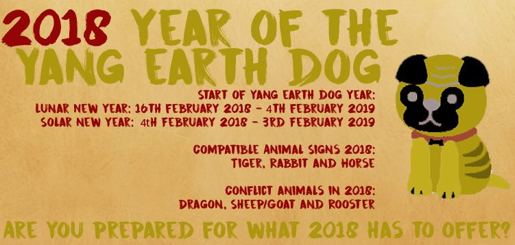 2018 year of the yang earth dog