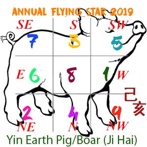 2018 Flying Star chart