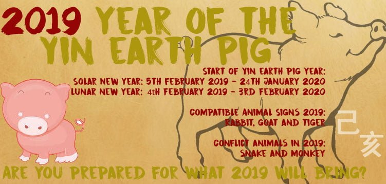 2019 year of the yin earth boar