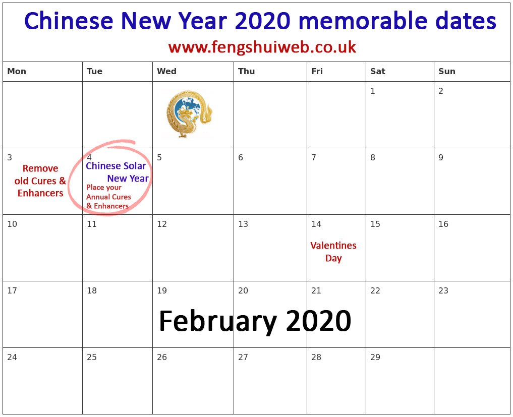 Calendar Chinese New Year 2020 Chinese New Year Feng Shui 2020   everything you need to know and