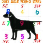 June 2018 monthly Flying Star chart