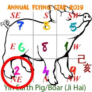 Flying Star Analysis for the 2 star in 2019