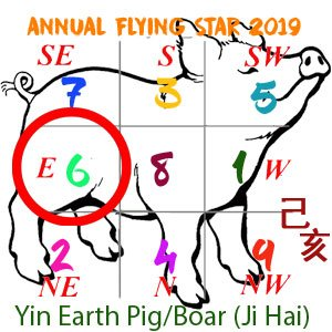 Flying Star Analysis for the 6 star in 2019
