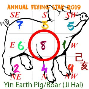 Flying Star Analysis for the 8 star in 2019