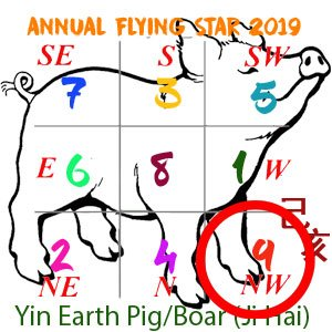 Flying Star Analysis for the 9 star in 2019