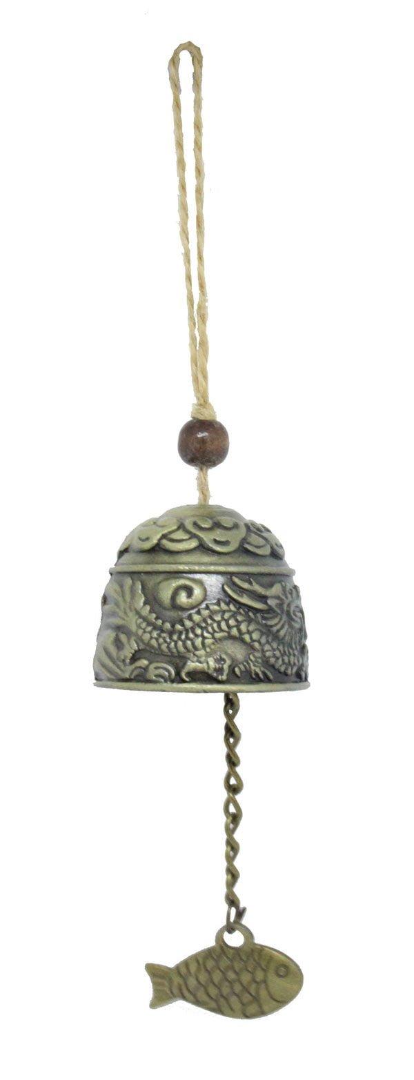 Heng Lung Fu Dual Dragon bell hanging