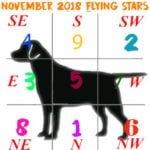 November 2018 Flying Star chart