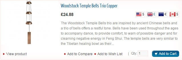 Woodsotck Temple Bells Trio Copper