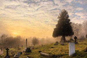 Feng shui gravestone selection