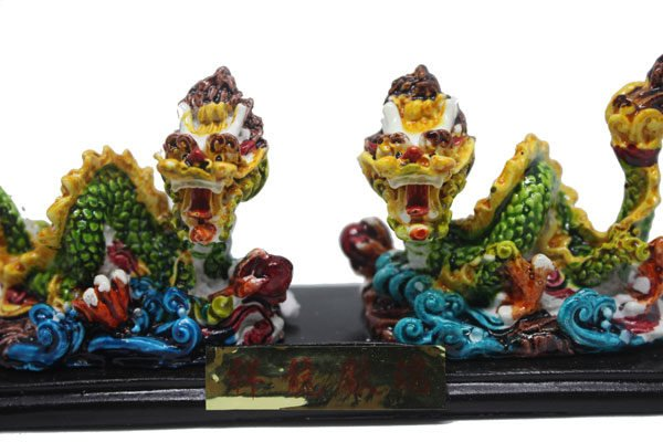 Panglong double coiled Dragon chasing pearl statue