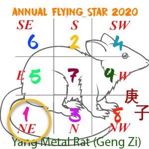 Flying star chart 2020 - 1 star