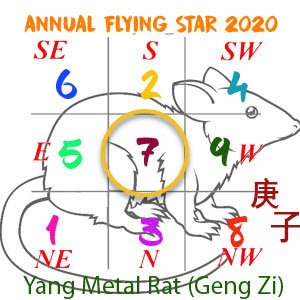 Flying star chart 2020 - 7 star